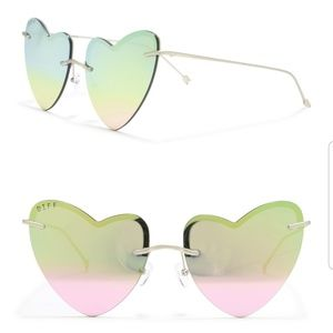 Diff Remy heart shaped sunglasses pastel